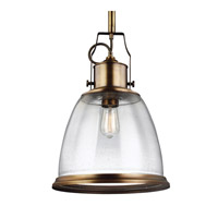 Feiss Hobson 1 Light Pendant in Aged Brass P1356AGB-F