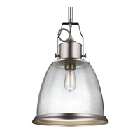 Feiss Hobson 1 Light Pendant in Satin Nickel P1356SN-F