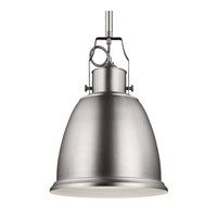 Feiss Hobson 1 Light Pendant in Satin Nickel P1359SN-F