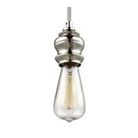 Feiss Corddello 1 Light Mini-Pendant in Polished Nickel P1368PN