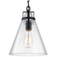 Feiss P1370ORB Frontage 1 Light 10 inch Oil Rubbed Bronze Pendant Ceiling Light in Standard Hand Blown Opal Etched Glass