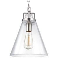 Feiss Frontage 1 Light Pendant in Satin Nickel P1370SN-F