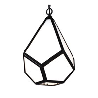 Diamond 1 Light 9 inch Black Mini-Pendant Ceiling Light in Standard