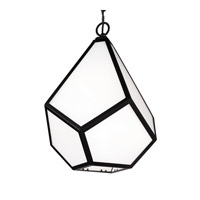 Diamond 1 Light 14 inch Black Pendant Ceiling Light in Fluorescent