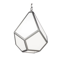 Feiss Diamond 1 Light Pendant in Polished Nickel P1375PN-F