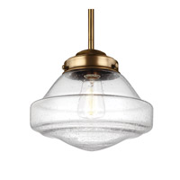 Feiss Alcott 1 Light Pendant in Aged Brass P1378AGB-F
