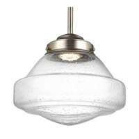 Feiss P1378SN-LED Alcott 1 Light 10 inch Satin Nickel Pendant Ceiling Light in Integrated LED