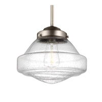 Feiss P1378SN-AL Alcott 1 Light 10 inch Satin Nickel Pendant Ceiling Light in ST18