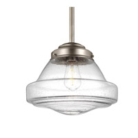 Feiss Alcott 1 Light Pendant in Satin Nickel P1380SN-F