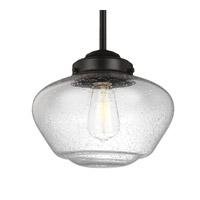 Alcott LED 10 inch Oil Rubbed Bronze Pendant Ceiling Light in Screw-in LED, Clear Seedy Glass