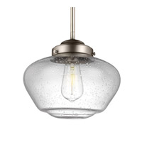 Feiss Alcott 1 Light Pendant in Satin Nickel P1384SN-F