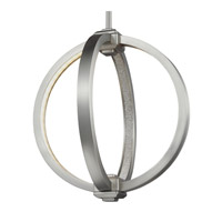 Khloe 12 inch Satin Nickel Globe Pendant Ceiling Light