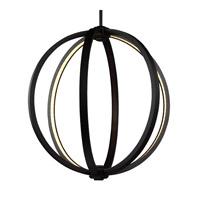 Feiss P1392ORB Khloe 20 inch Oil Rubbed Bronze Globe Pendant Ceiling Light
