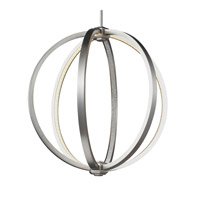Khloe 20 inch Satin Nickel Globe Pendant Ceiling Light