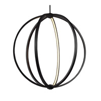 Feiss P1393ORB Khloe 30 inch Oil Rubbed Bronze Globe Pendant Ceiling Light