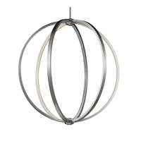 Khloe 30 inch Satin Nickel Globe Pendant Ceiling Light