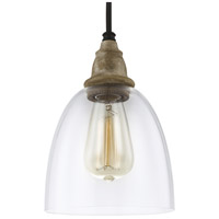 Feiss Matrimonio 1 Light Mini-Pendant in Driftwood / Dark Weathered Zinc P1394DFW/DWZ