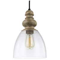 Feiss Matrimonio 1 Light Pendant in Driftwood / Dark Weathered Zinc P1395DFW/DWZ