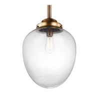 Feiss Alcott 1 Light Pendant in Aged Brass P1403AGB-F