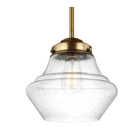 Feiss Alcott 1 Light Pendant in Aged Brass P1405AGB-F