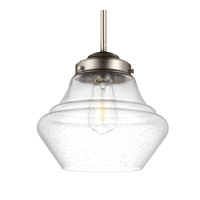 Feiss Alcott 1 Light Pendant in Satin Nickel P1405SN-AL