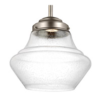 Alcott 1 Light 12 inch Satin Nickel Pendant Ceiling Light in Integrated LED