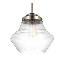 Feiss Alcott 1 Light Pendant in Satin Nickel P1407SN-F