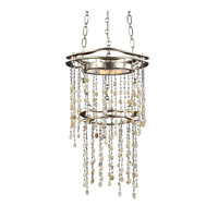 Stonesend 13 inch Silver Leaf Antique Mini-Pendant Ceiling Light