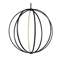 Feiss P1412ORB Khloe 48 inch Oil Rubbed Bronze Globe Pendant Ceiling Light
