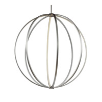 Feiss P1412SN Khloe 48 inch Satin Nickel Globe Pendant Ceiling Light