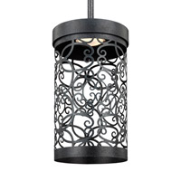 Feiss Arramore LED Outdoor Pendant in Dark Weathered Zinc with White Acrylic Diffusers P1419DWZ-LED