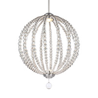 Feiss Oberlin LED Pendant in Satin Nickel with Frosted Diffuser Crystal Glass Lens Glass P1426SN-LED