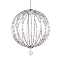 Feiss Oberlin LED Pendant in Satin Nickel with Frosted Diffuser Crystal Glass Lens Glass P1428SN-LED