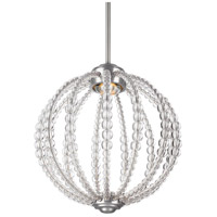 Feiss P1436SN-L1 Oberlin LED 14 inch Satin Nickel Pendant Ceiling Light