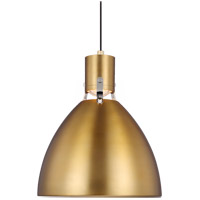 Brynne LED 14 inch Burnished Brass Pendant Ceiling Light