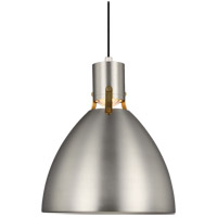 Brynne LED 14 inch Satin Nickel Pendant Ceiling Light