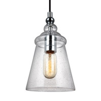 Loras 1 Light 6 inch Chrome Pendant Ceiling Light