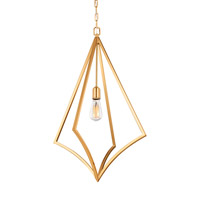 Feiss P1451BBS Nico 1 Light 19 inch Burnished Brass Pendant Ceiling Light