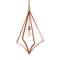Feiss P1451CPR Nico 1 Light 19 inch Copper Pendant Ceiling Light
