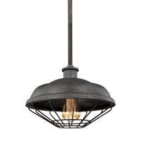 Lennex 1 Light 12 inch Slated Grey Metal Pendant Ceiling Light