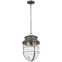 Feiss P1500DSL Parson 1 Light 11 inch Distressed Silver Leaf Pendant Ceiling Light