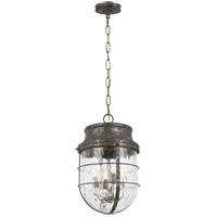 Feiss P1501DSL Parson 4 Light 15 inch Distressed Silver Leaf Pendant Ceiling Light