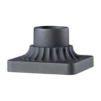 Pier Mounting 6 inch Black Pier and Post Accessory