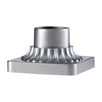 Feiss PIER-MT-BRAL Pier Mounting 6 inch Brushed Aluminum Pier and Post Accessory