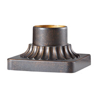 Feiss PIER-MT-GBZ Pier Mounting 6 inch Grecian Bronze Pier and Post Accessory