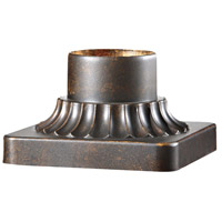Pier Mounting 6 inch Walnut Pier and Post Accessory