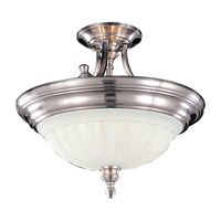 Feiss Neo Classic 2 Light Semi Flush Mount in Brushed Steel SF140BS