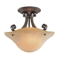 Feiss Tuscan Villa 2 Light Semi Flush Mount in Corinthian Bronze SF177CB photo thumbnail