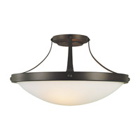 Boulevard 2 Light 15 inch Oil Rubbed Bronze Semi-Flush Ceiling Light in Fluorescent