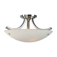 Feiss Gravity 3 Light Semi Flush Mount in Brushed Steel and Polished Nickel SF189BS/PN photo thumbnail